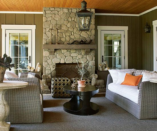 Outdoor Furniture and Fabric Ideas Fireplaces Color