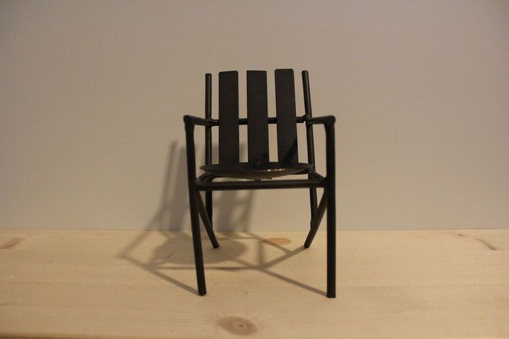 """7"""" Tall Brown Beach Chair Tea Candle Holder Interior Home Decor #Unbranded #AntiqueStyle"""