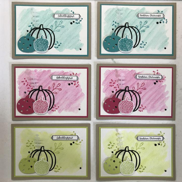 Geburtstagskarten Pick a Pumpkin, Stampin' Up!