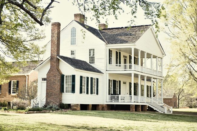 DOUBLE PORCH. I love but would rather have a wrap around porch. The home is lovely though, just my style.