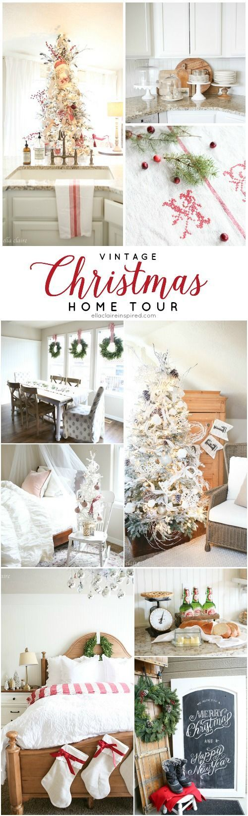 102 best Christmas Home Tours images on Pinterest | Christmas decor ...