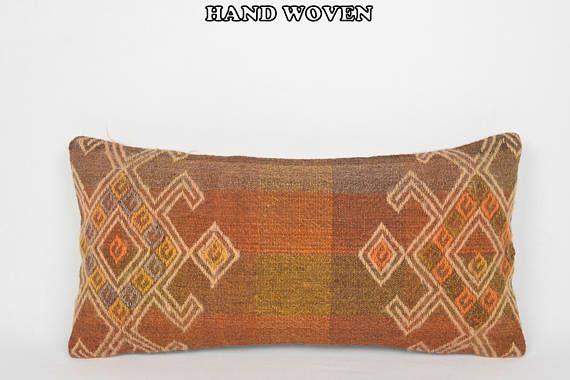 12x24 nomad kilim pillow moroccan style cushion oversized