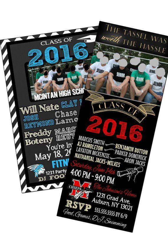 Group graduation party invite, group graduation ...