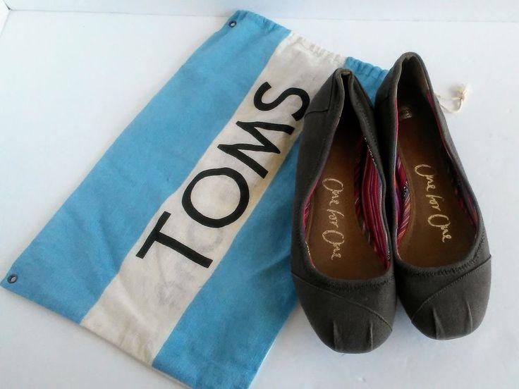 TOMS BALLET BALLERINA FLATS WOMENS Size W9 EUC | eBay