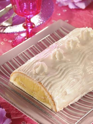 Recette Bûche à la crème de citron, notre recette Bûche à la crème de citron - aufeminin.com