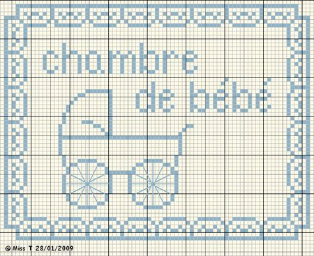 Bébé - baby - chambre - point de croix - cross stitch - Blog : http://broderiemimie44.canalblog.com/