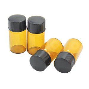 4x Mini Bouteille Vides Huile Essentielle Aromatherapie Massage Flacons 2ml