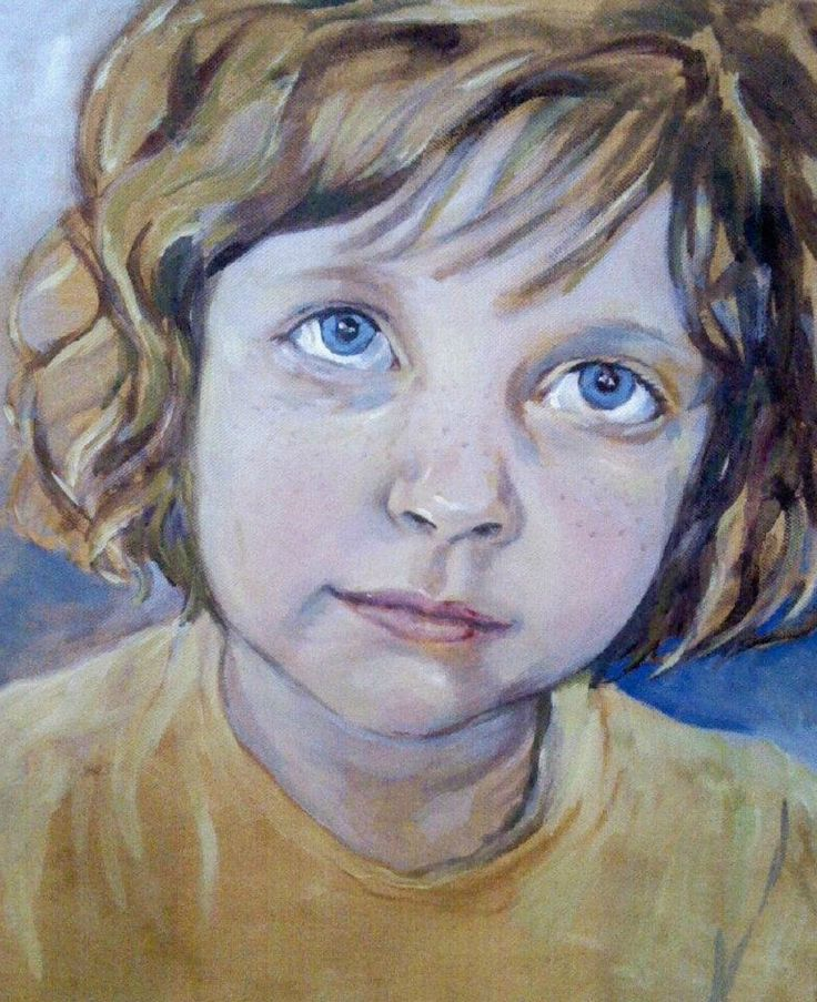 My lovely daughter Acrylic on canvas