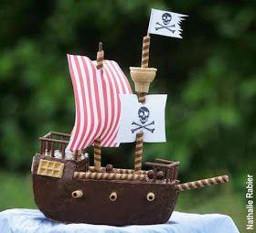 gâteau d'anniversaire bateau pirate