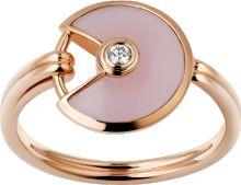 Bague Amulette de Cartier XS Or rose, opale rose, diamant