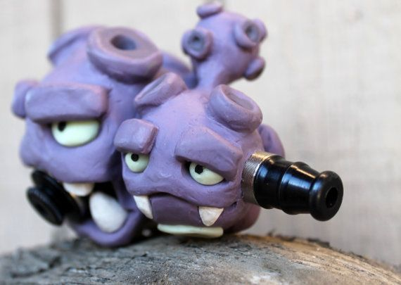 Weezing Pipe, polymer clay by IndicaPlateau