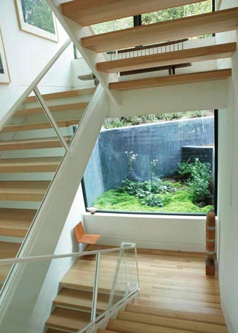 Beautiful modern stairs in the Twilight house
