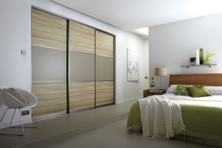 bedroom fitted wardrobe design ideas with sliding wardrobes door 3 panels