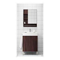 LILLÅNGEN Wash-basin base cabinet w 2 doors - black-brown - IKEA