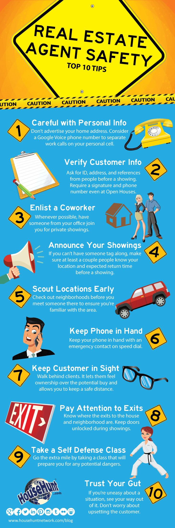 Top 10 Real Estate Agent Safety Tips [Infographic]
