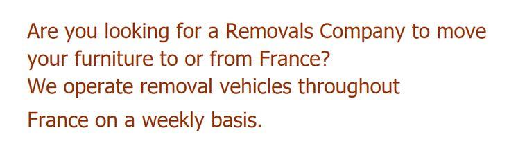 Choose Hunts International for Removals to France In October