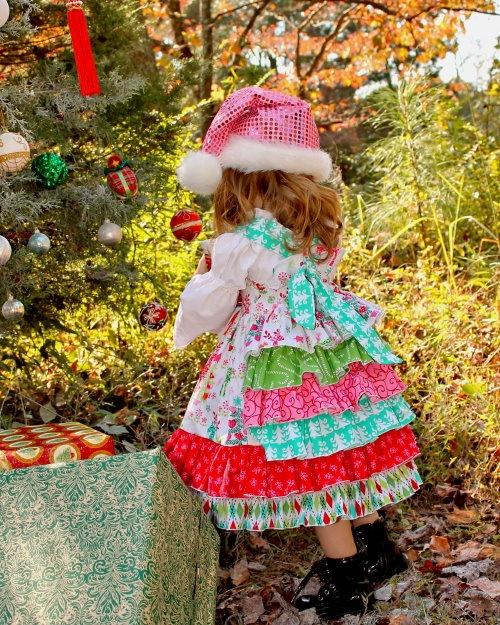 Christmas galore ruffleback knot dress christmas crafts pinterest