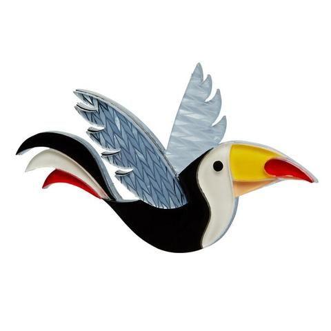 Erstwilder Conrad Cool Beak Toucan Bird Brooch