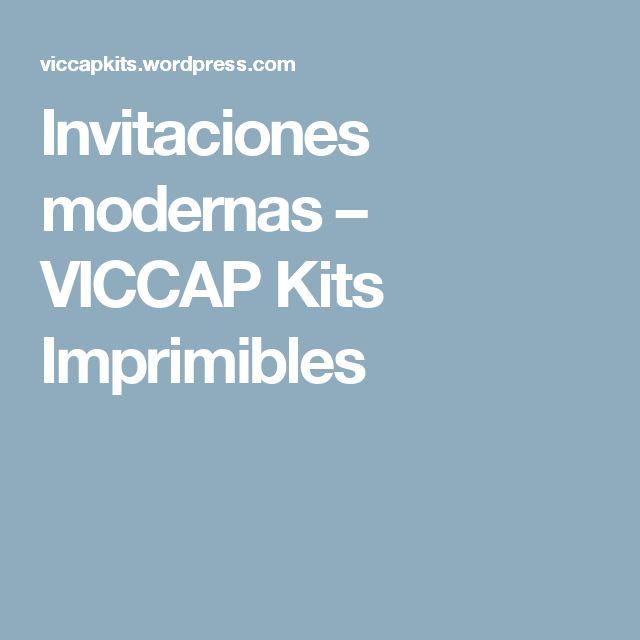 Invitaciones modernas – VICCAP Kits Imprimibles
