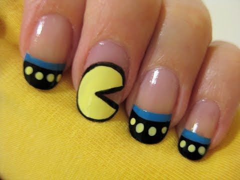 pac man nails ( its so cute is going along your nail eating point)