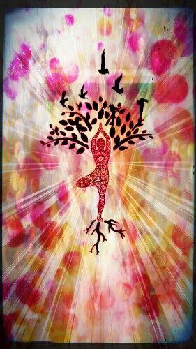 Jóga tree, made in pixlr