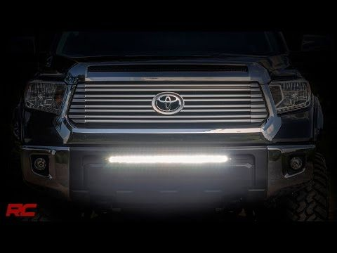 2014-2016 Toyota Tundra 30-inch Light Bar Bumper Mount Kit by Rough Country - YouTube