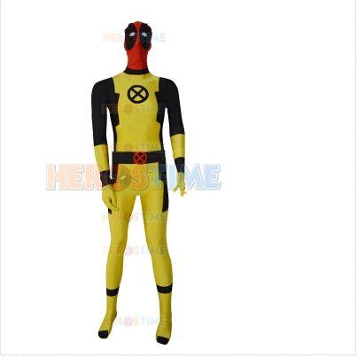 >> Click to Buy << New Custom Yellow Deadpool Costume spandex full body Superhero Zentai suit halloween cosplay costume Sell cheap #Affiliate