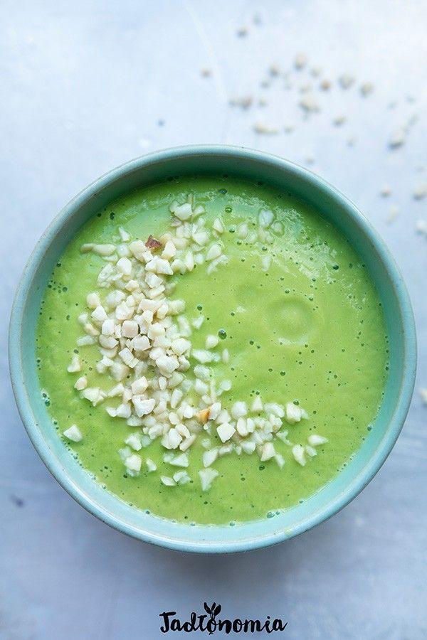 Krem z zielonych szparagów i cukinii