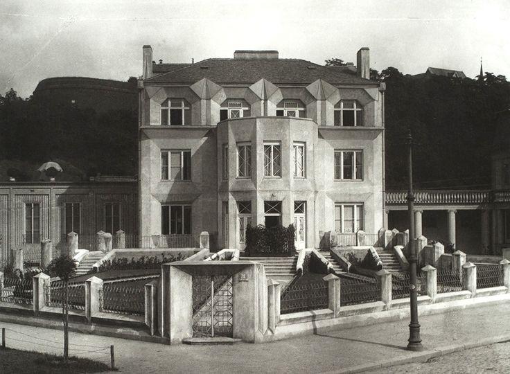 Josef Chochol cubist Villa Kovařic, Prag/Vyšehrad, 1912/13