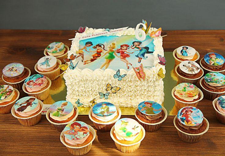 Для девочек, которые полюбили фей Винкс 🌺, на день рождения тортик нежного оттенка, оформленный взбитыми сливками, разноцветными вафельными бабочками и, конечно же, картинкой с любимыми персонажами💕.  Изготовление тортика как на фото возможно от 1-го кг и всего за 1900₽/кг😍  Набор с изображением любимых героев всего за 1250₽/наб. при заказе с тортиком👍  Специалисты #Абелло готовы помочь с выбором красивого и качественного десерта по любому поводу по единому номеру: +7(495)565-3838…