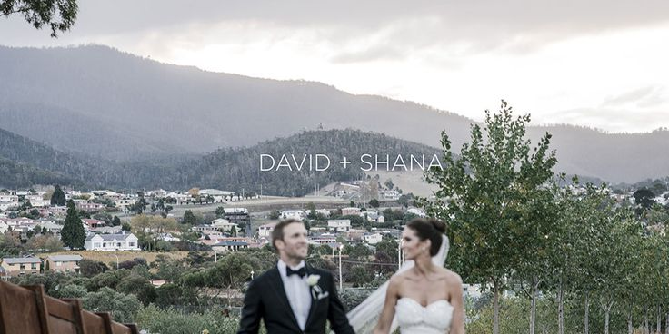 The introduction page for David and Shana's wedding album shot at MONA in Hobart, Tasmania