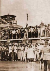 21 Avril 1966, l'empereur Ethiopien Hailé Sélassié arrive à Kingston (Jamaïque) pour une visite officielle de 3 jours.
