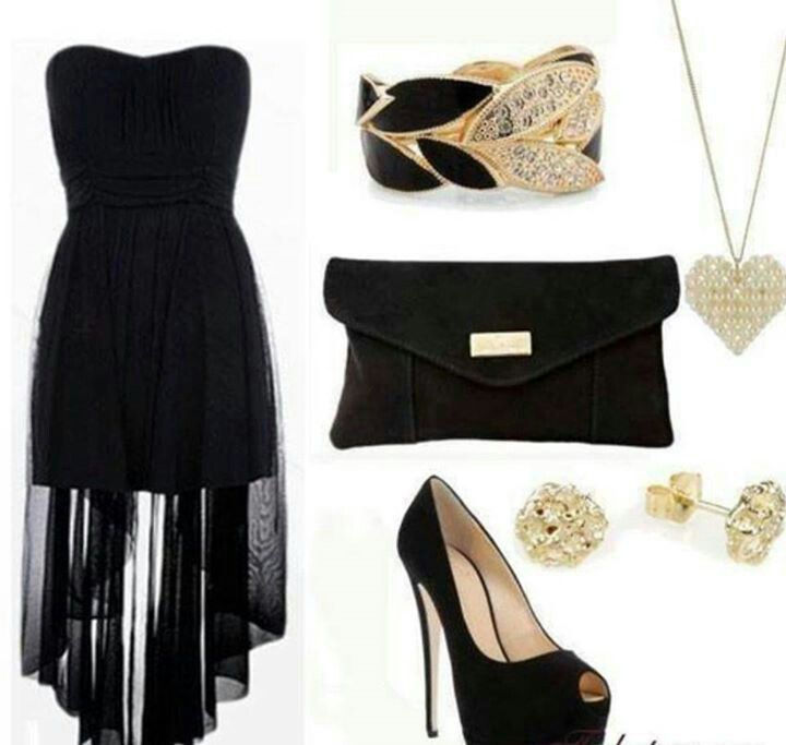 Black and gold. Graduation outfit?