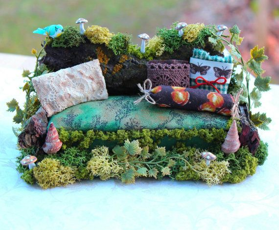 I can do this !!! Dollhouse Miniature Fairy Sofa