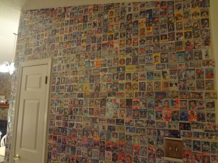 Our Baseball Card Wall