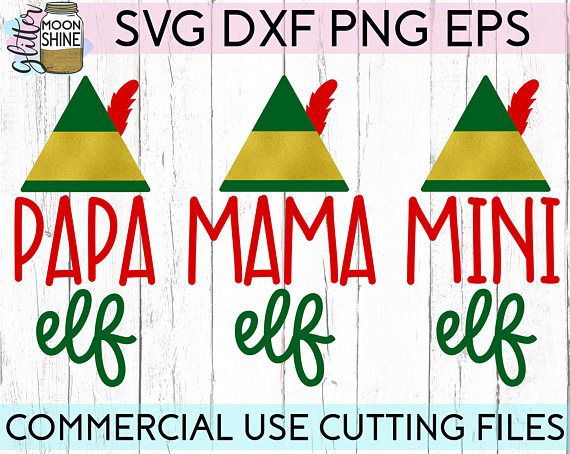 Papa Elf Mama Elf Mini Elf Family svg, .eps, dxf png Bundle Files and Designs for Silhouette Cameo and Cricut Explore Air Cutting Machines. Commercial Use License Included! ---- Cute SVG, Funny SVG, DIY, SVG Quote, SVG Sayings, Girl Designs, Pretty SVG, Christmas Family svg, Family Shirt Design Ideas, Christmas Eve Pajama Ideas, SVG Design, SVG File, Mug Design, Shirt Design, Cutting Designs, Cutting File, Cricut Air, Small Businesses