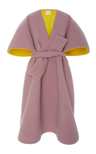 Belted Oversized Sleeve Poncho by DELPOZO for Preorder on Moda Operandi