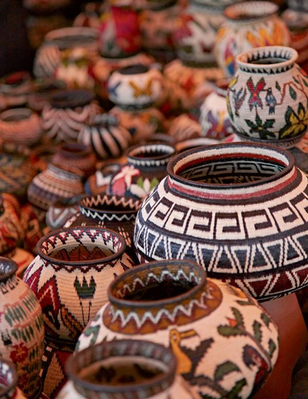 Handmade Embera Indian Baskets from Panama