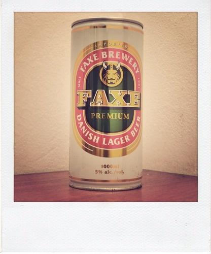 Faxe 1000ml - Dinamarca - Es 1 litro de cerveza. Hoy por hoy sigue cerrada.