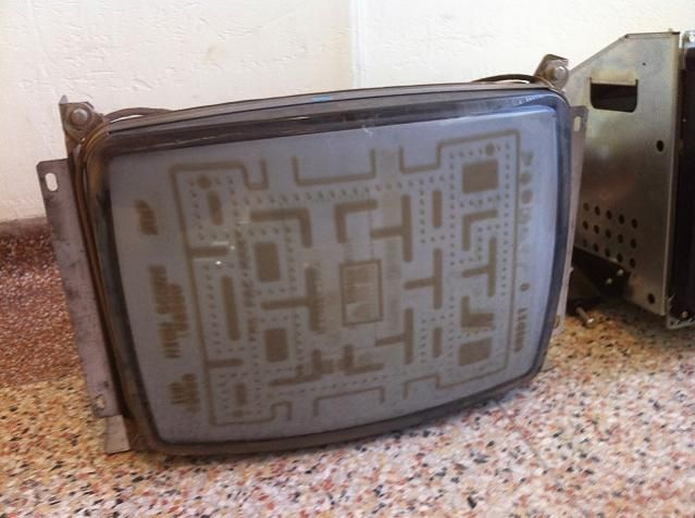 Pac-Man video game burn in