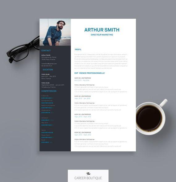 Modèle de CV   Resume Template   Lettre de Motivation pour MS Word   Téléchargement Numérique Instantané   Arthur