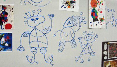 Miro PeopleJoan Miro Art Lessons, Deep Space Sparkle, Joan Miró, Miró Art, Spaces Sparkle, Elementary Art, Deep Spaces, Art Projects, 1St Grade