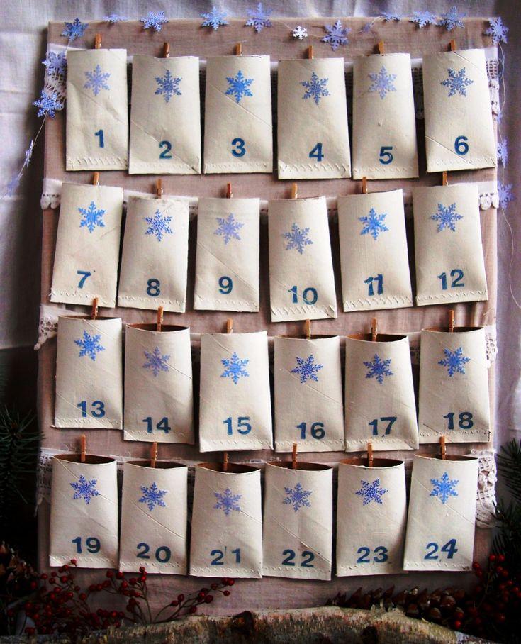 adventní kalendář nostalgie, jak vyrobit adventní kalendář