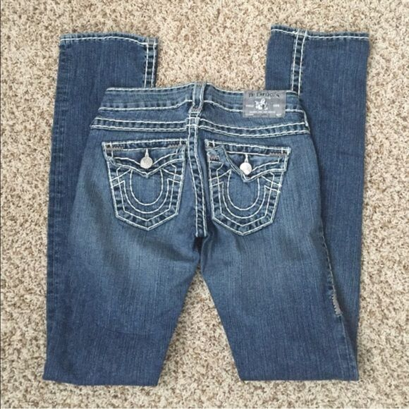 TRUE RELIGION JEANS Authentic TRUE RELIGION jeans 24 billy. Looks like straight legs. Excellent condition! Price is FIRM! NO HOLDS/NO TRADES/AS IS! True Religion Jeans Straight Leg