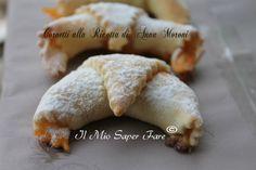 Cornetti Anna Moroni impasto base con ricotta:deliziosi, ideali per una sana colazione o da gustare a merenda. Ricetta senza lievito e uova nell'impasto.
