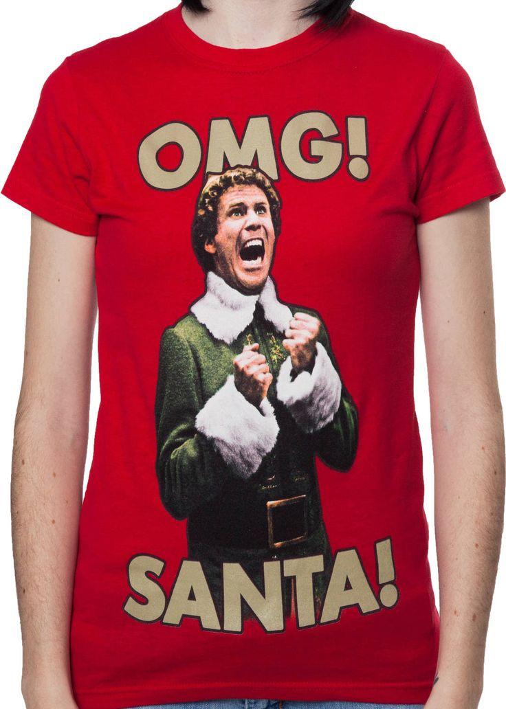 Ladies OMG Santa Elf Shirt