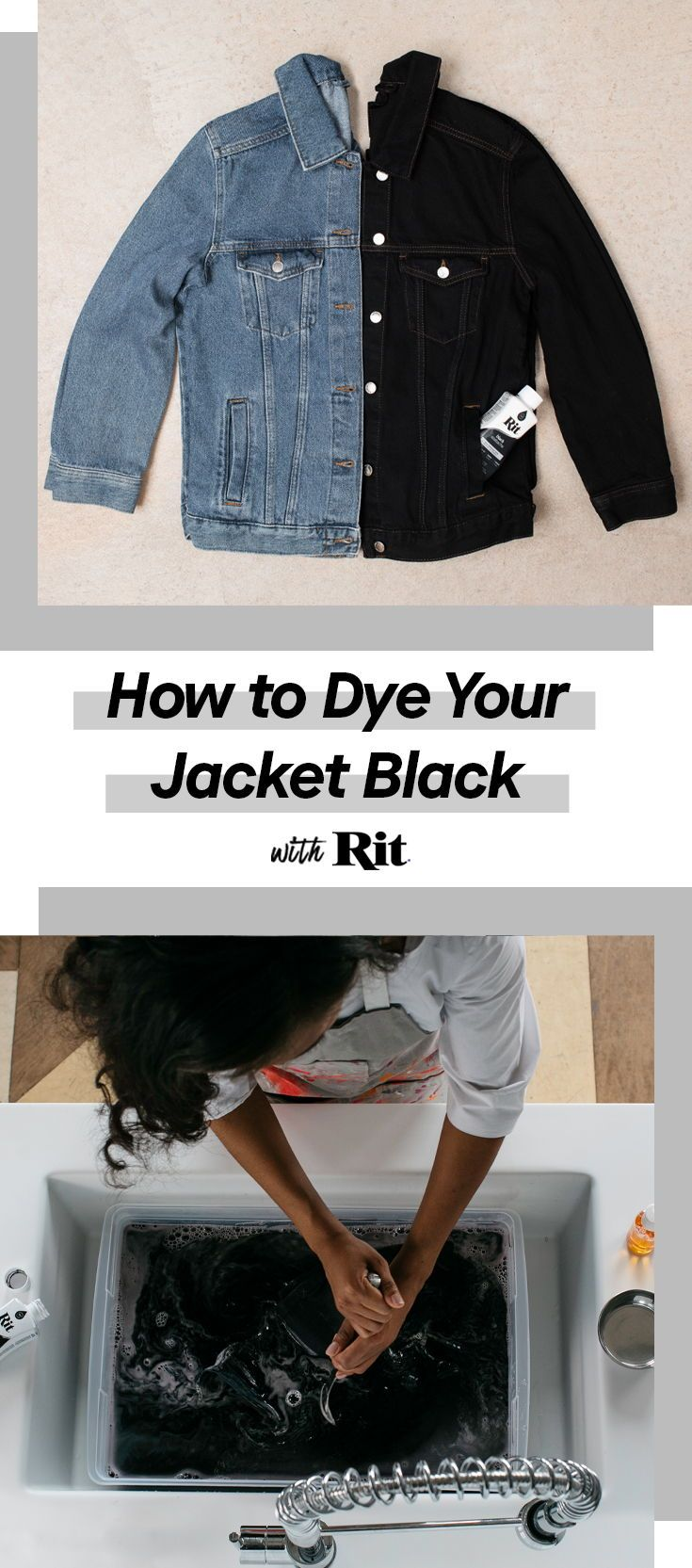 Dye Your Jacket Black Contrary To Popular Belief You Don T Have To Get Rid Of Your Faded Clothing Instead Save Your F Diy Jacket Clothes Dye Diy Dye Fabric