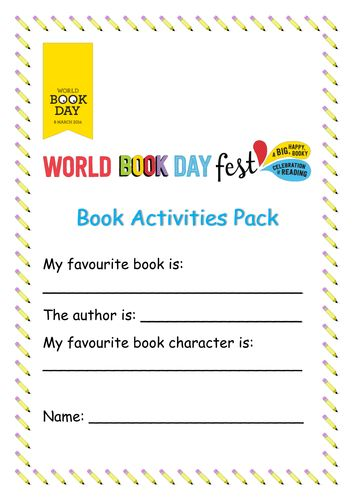 World Book Day Activities Pack