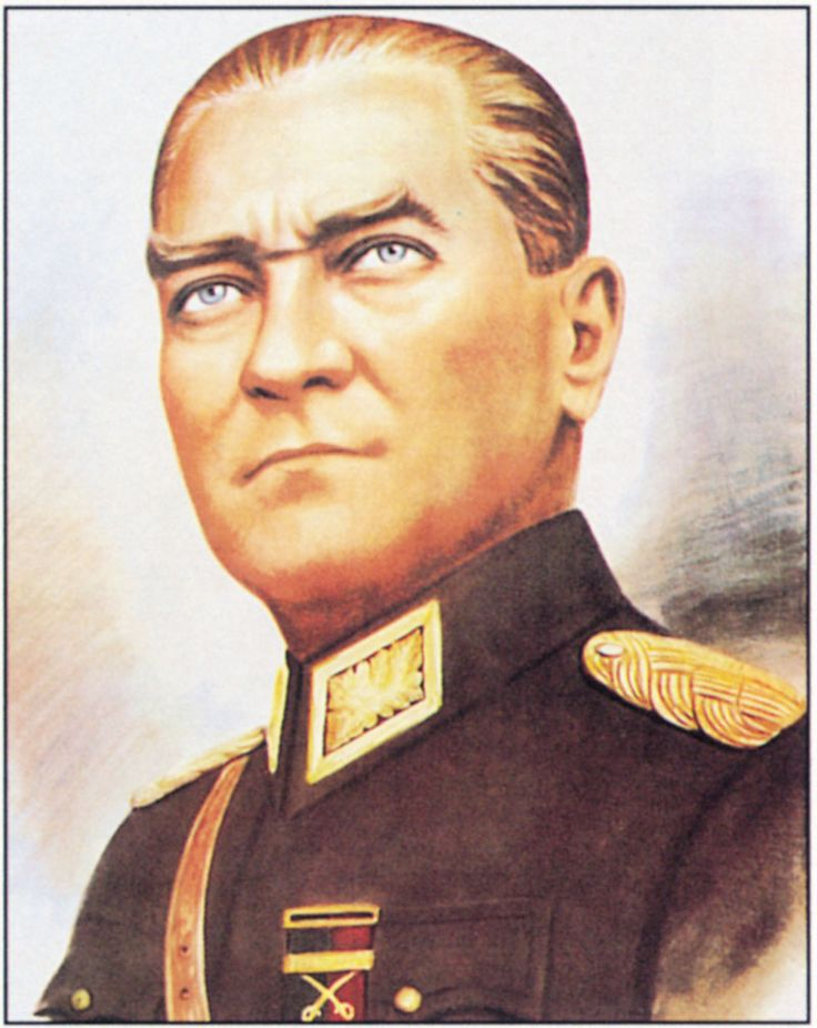 Mustafa Kemal Atatürk - Marshal who commanded the victorious Turkish republican revolutionary army during Turkish War of Independence and founded of the Republic of Turkey in 1923.