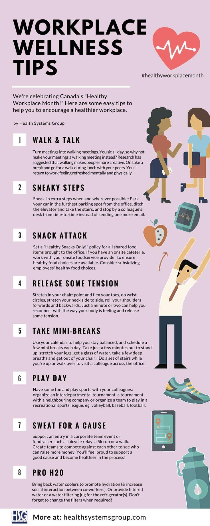 Workplace Wellness Tips   Workplace wellness, Wellness ...